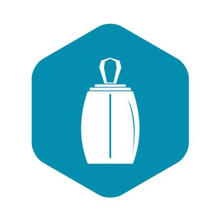 Elegant woman perfume bottle icon, simple style Illustration