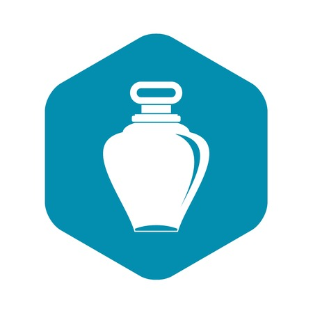 Parfume bottle icon in simple style isolated on white background vector illustration Illustration