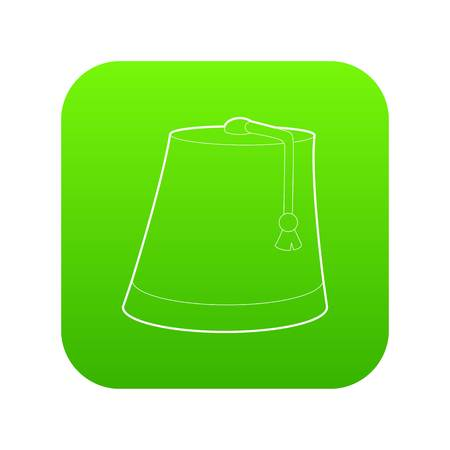 Turkish hat icon green vector 矢量图像