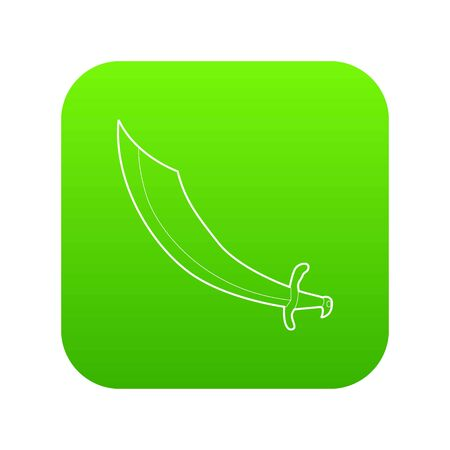 Dagger icon green vector Illustration
