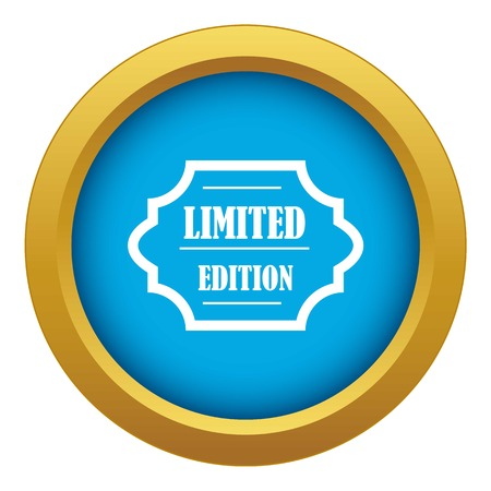 Limited edition icon blue vector isolated on white background for any design