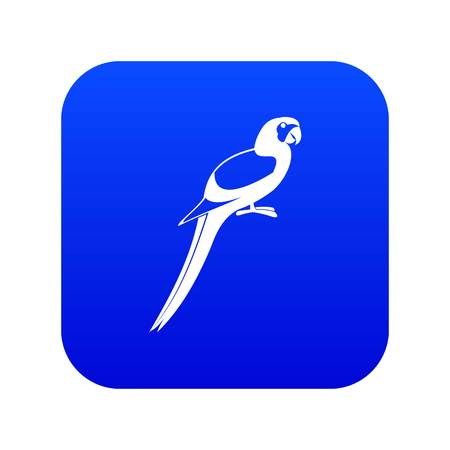 Parrot icon digital blue for any design isolated on white vector illustration