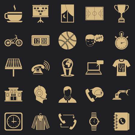 Timepiece icons set. Simple set of 25 timepiece vector icons for web for any design Illustration