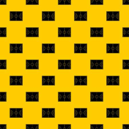Soccer field pattern seamless vector repeat geometric yellow for any design