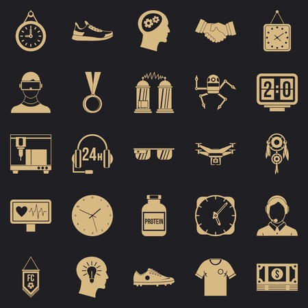 Ticker icons set. Simple set of 25 ticker vector icons for web for any design