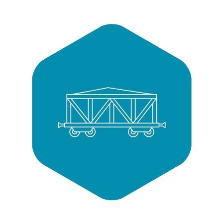 Cargo wagon icon. Outline illustration of cargo wagon vector icon for web Stock Illustratie
