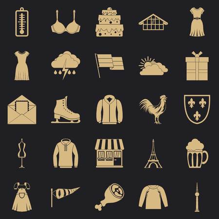 Lightweight clothing icons set. Simple set of 25 lightweight clothing vector icons for web for any design Stock Illustratie