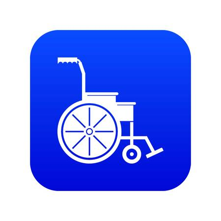 Wheelchair icon digital blue for any design isolated on white vector illustration
