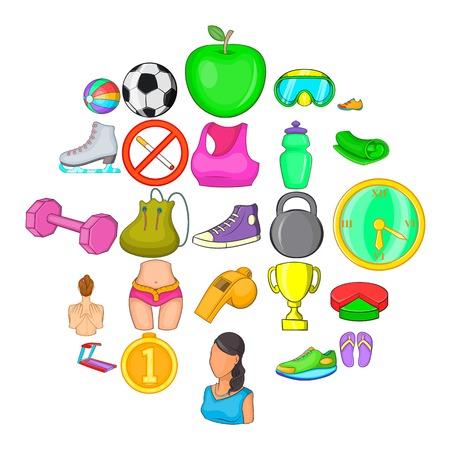 Fulfillment icons set, cartoon style