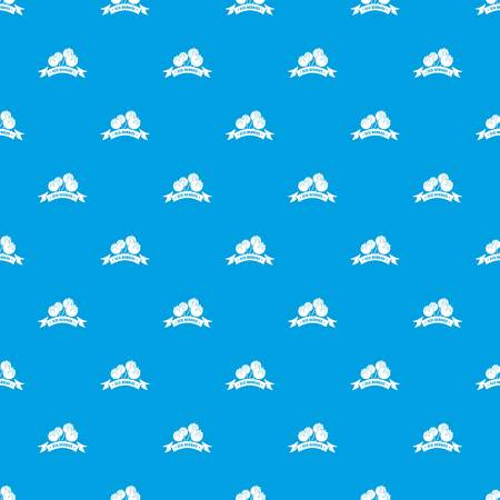 Juice berries pattern vector seamless blue Illustration