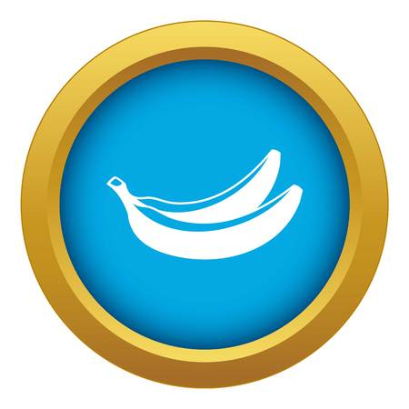 Banana icon blue vector isolated on white background for any design