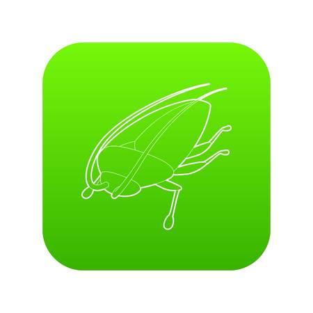 Cockroach icon green vector Stock Vector - 117233189