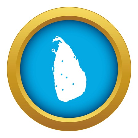 Map of Sri Lanka icon blue vector isolated on white background for any design