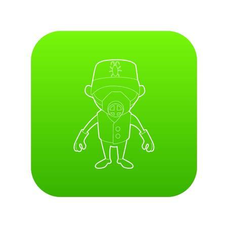 Disinfector icon green vector