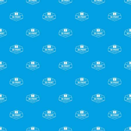 Technology 3d printing pattern vector seamless blue repeat for any use Illustration