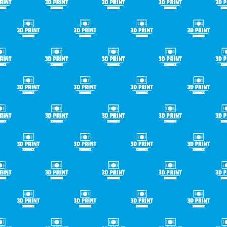 Material 3d printing pattern vector seamless blue repeat for any use