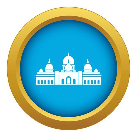 Mosque icon blue vector isolated on white background for any design Ilustração