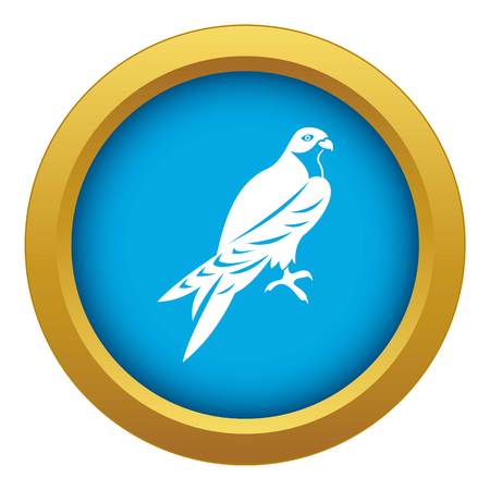 Falcon icon blue vector isolated on white background for any design Stock Illustratie