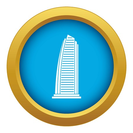 Skyscraper icon blue vector isolated on white background for any design