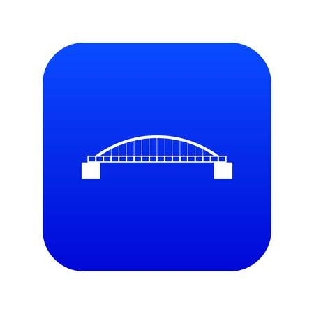 Bridge icon digital blue for any design isolated on white vector illustration Stock Illustratie
