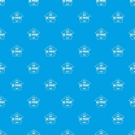 Design 3d printing pattern vector seamless blue repeat for any use