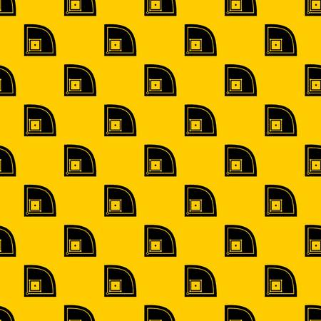 Baseball field pattern seamless vector repeat geometric yellow for any design