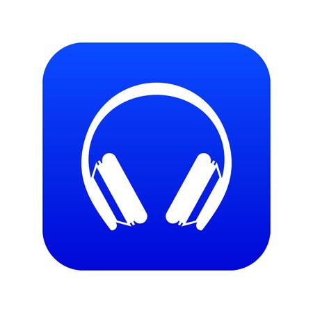 Protective headphones icon digital blue for any design isolated on white vector illustration