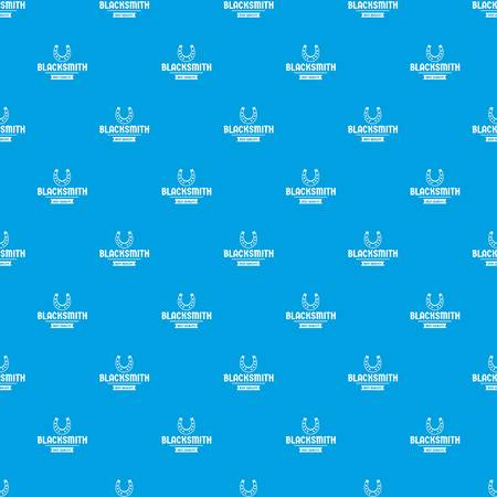 Shop blacksmith pattern vector seamless blue repeat for any use