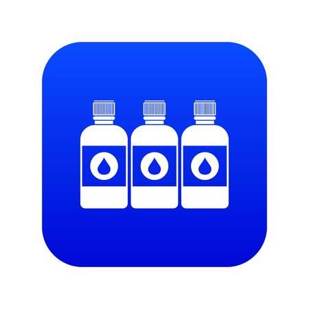Printer ink bottles icon digital blue for any design isolated on white vector illustration