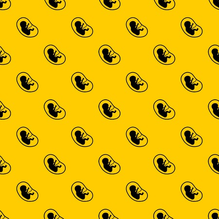 Fetus pattern seamless vector repeat geometric yellow for any design