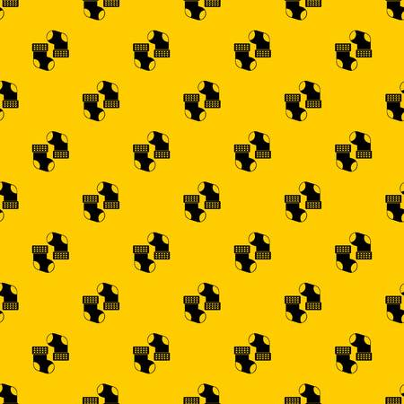 Baby socks pattern seamless vector repeat geometric yellow for any design