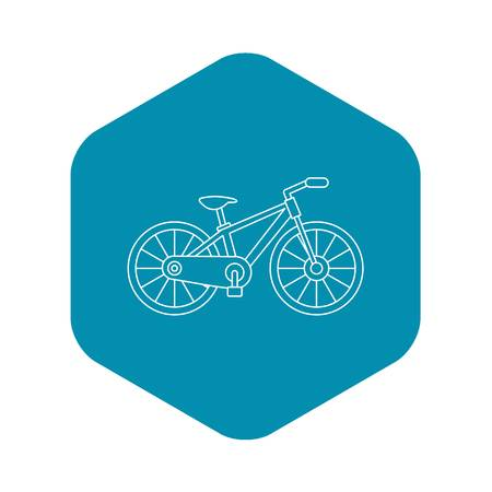 Bicycle icon. Outline illustration of bicycle vector icon for web design