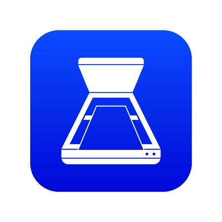 Open scanner icon digital blue for any design isolated on white vector illustration