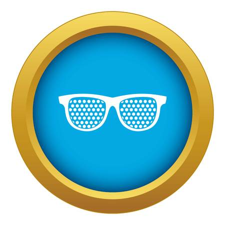 Black pinhole glasses icon blue vector isolated on white background for any design Stock fotó - 125112554