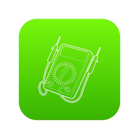 Tester icon green vector