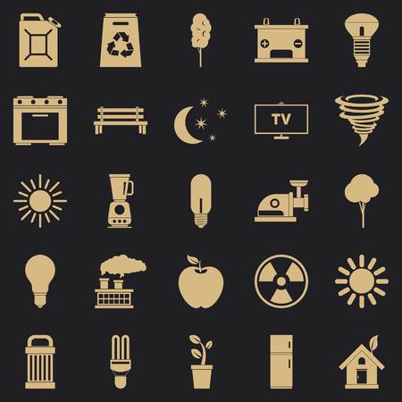 Energy icons set. Simple set of 25 energy vector icons for web for any design