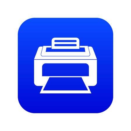 Modern laser printer icon digital blue for any design isolated on white vector illustration Illustration