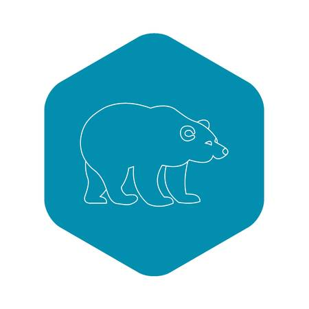 Bear icon. Outline illustration of bear vector icon for web