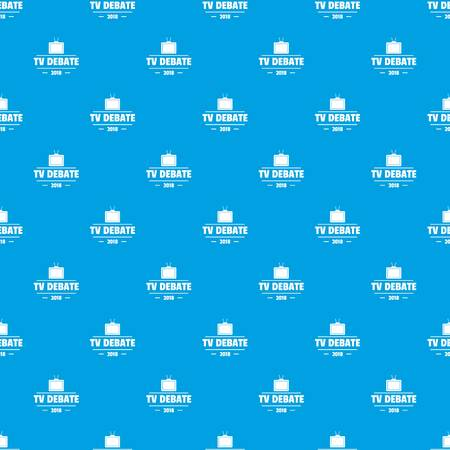 Tv debate pattern vector seamless blue