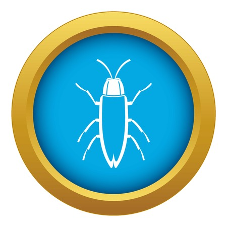 Cockroach icon blue vector isolated Illustration