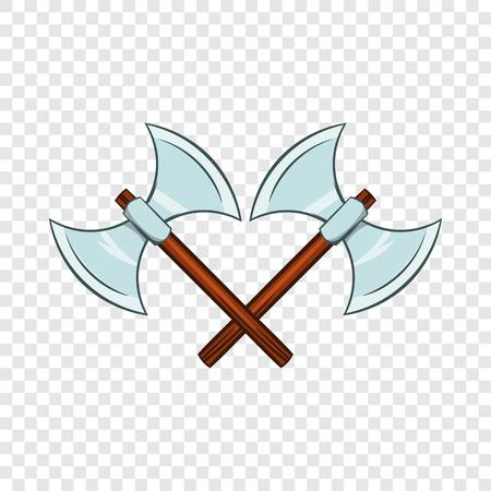 Crossed ancient battle double axes icon