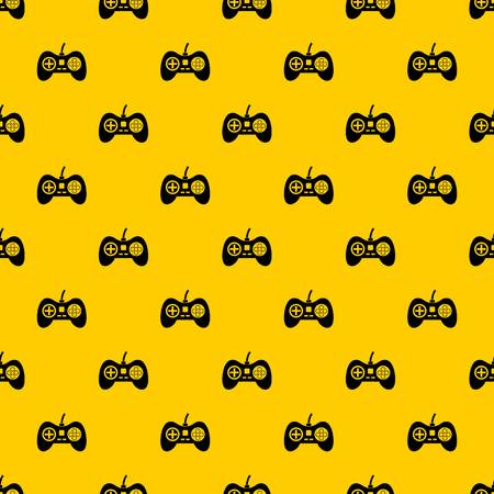 Video game console controller pattern seamless vector repeat geometric yellow for any design