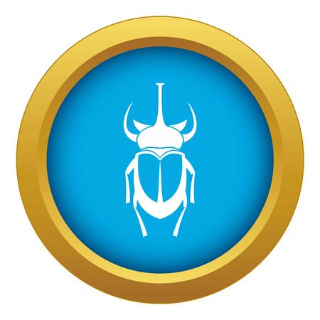 Weevil beetle icon blue vector isolated on white background for any design