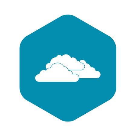 Clouds icon in simple style isolated on white background Illustration