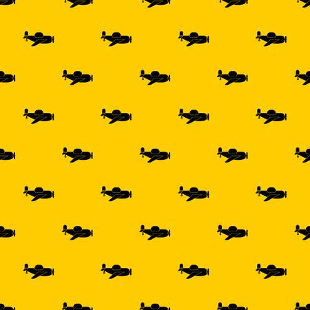 Toy plane pattern seamless vector repeat geometric yellow for any design
