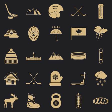Canada icons set. Simple set of 25 canada vector icons for web for any design