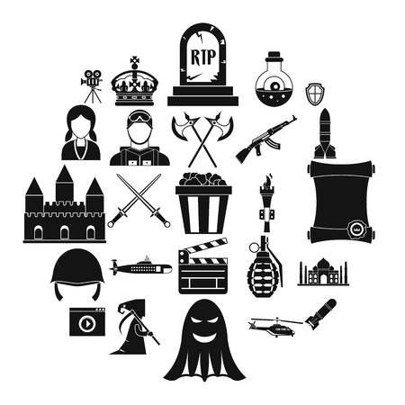 Movie director icons set. Simple set of 25 movie director vector icons for web isolated on white background