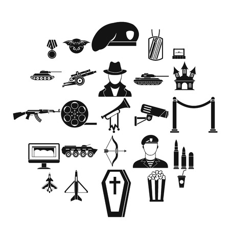 Trouper icons set. Simple set of 25 trouper vector icons for web isolated on white background