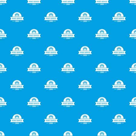 Office post pattern vector seamless blue
