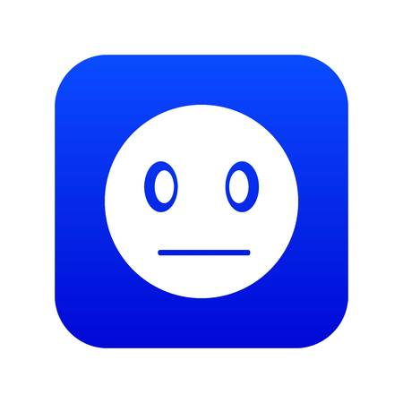 Suspicious emoticon digital blue for any design isolated on white vector illustration 矢量图像